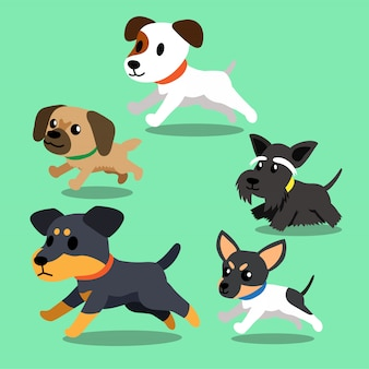 Cartoon dogs running