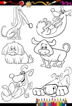 Мультяшные собаки для раскраски