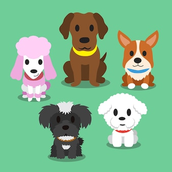 Cartoon dogs standing