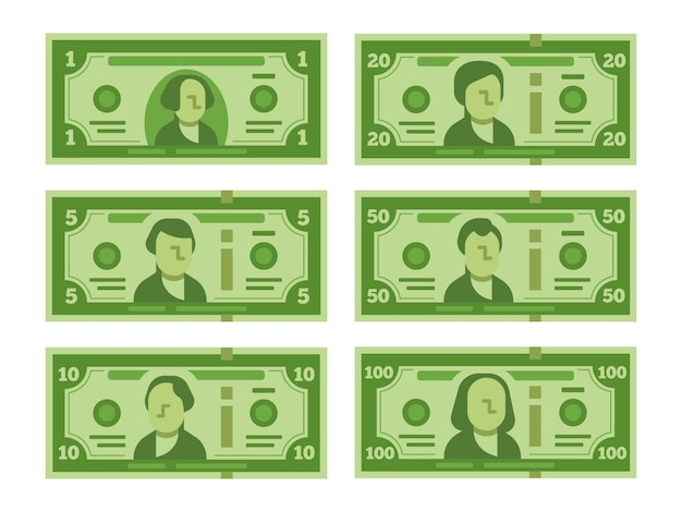 Мультфильм доллар банкноты. задавать