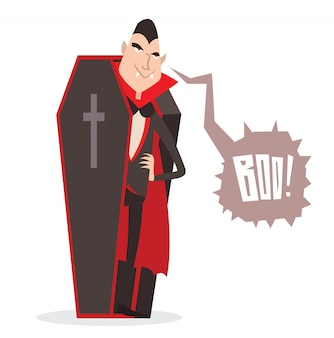 Cartoon dracula halloween vector illustration