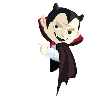 Cartoon dracula vampire character