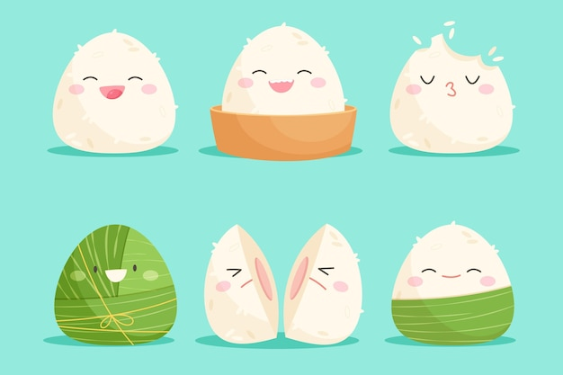 Cartoon dragon boat's zongzi collection