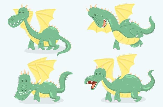 Иллюстрации шаржа дракона