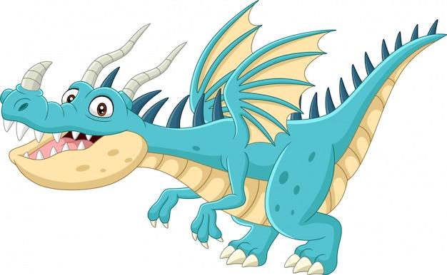 Cartoon dragon on white