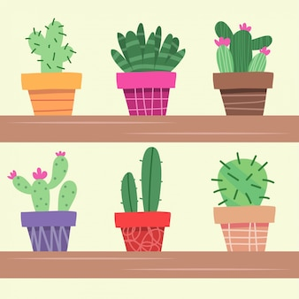 Cartoon drawing with cactus