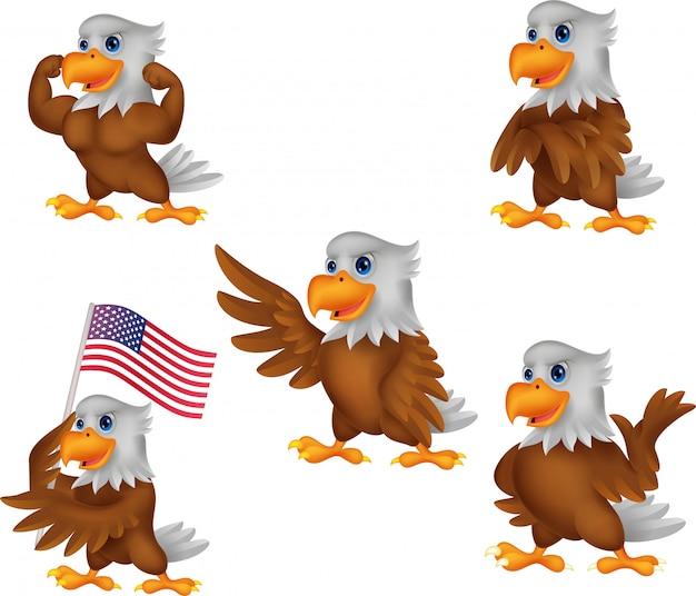 Cartoon eagle collection set