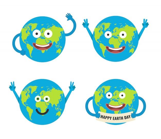 Cartoon earth characters