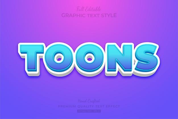 Cartoon editable text effect font style