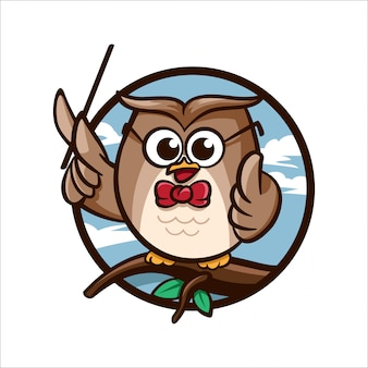 Cartoon edu owl
