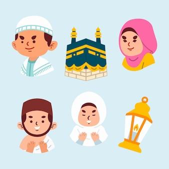 Cartoon eidadha illustration