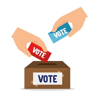 Cartoon elections vote design
