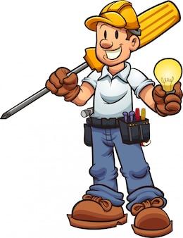 Cartoon electrician