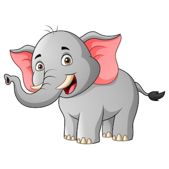 Cartoon elephant smile   illustration
