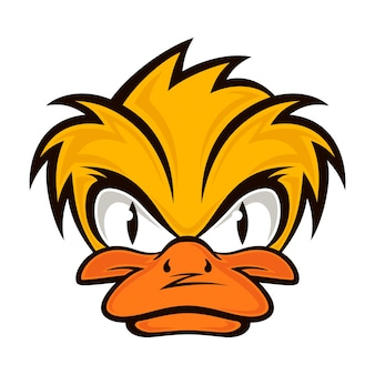 Cartoon evil face duck