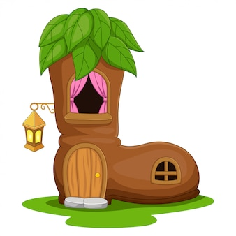 Мультяшный сказочный домик в виде сапог