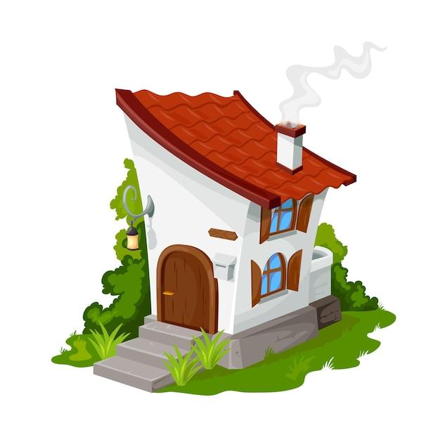 Cartoon fairytale elf or dwarf house, dwelling