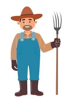 Cartoon farmer, vector