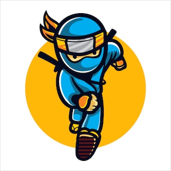 Cartoon fast ninja