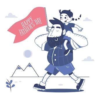 День отца иллюстрации шаржа
