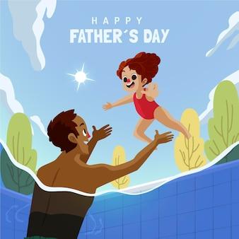 Cartoon father's day illustration