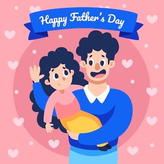 Illustrazione di festa del papà del fumetto