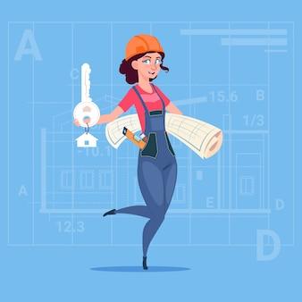 Мультфильм женский строитель холдинг ключ