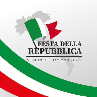 Cartoon festa della repubblica illustration