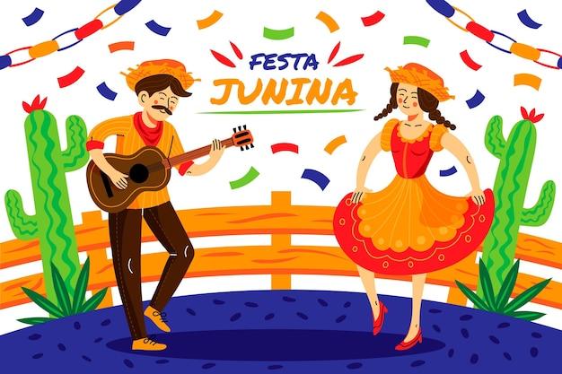 Cartoon festa junina illustrazione