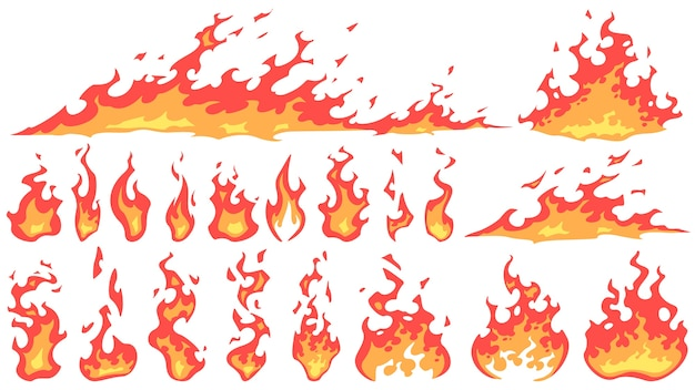 Cartoon fire flames