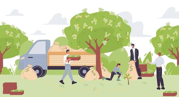 Бизнес-персонажи из мультфильмов увеличивают прибыль