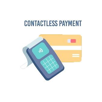 Мультяшный плоский бесконтактный платеж nfc