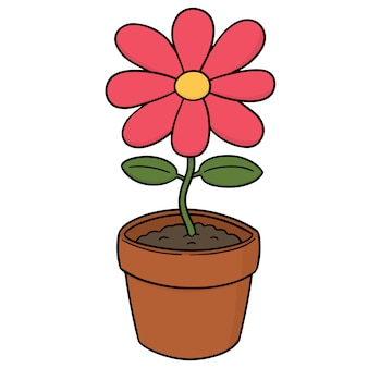 Cartoon flower