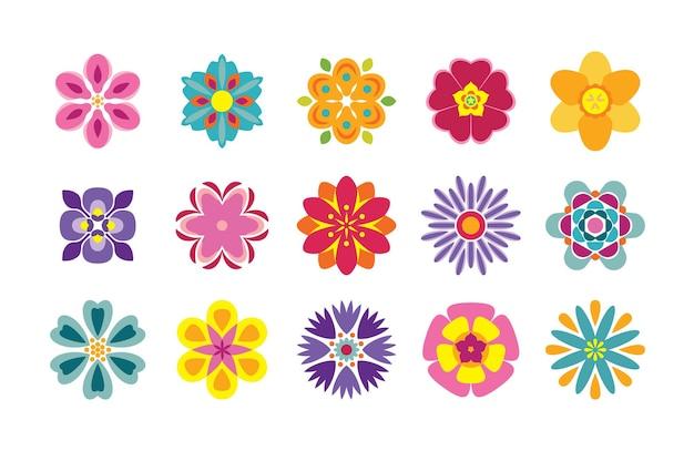 만화 꽃 아이콘 모음입니다.