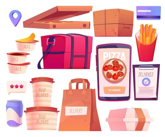 만화 음식 온라인 배달 컬렉션