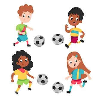 Cartoon football players collection