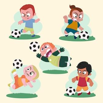 Cartoon football playersillustration