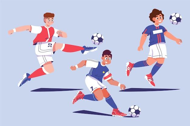 Мультяшные футболисты