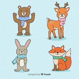 Cartoon forest animals pack