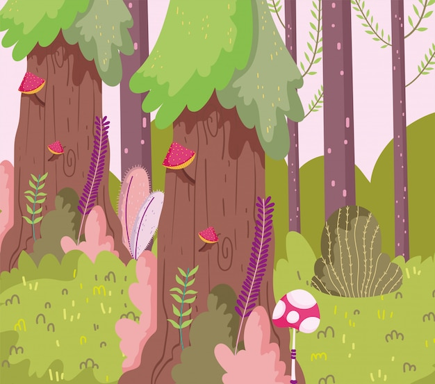 Cartoon forest illustration