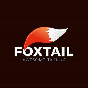 Cartoon fox tail logo