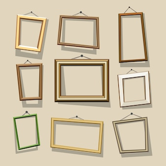 Cartoon frames set.