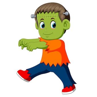 Cartoon frankenstein kid