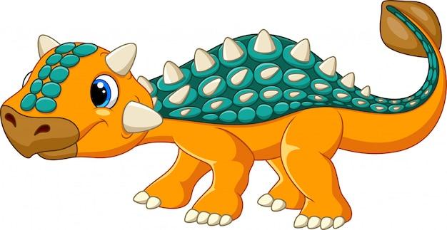 Cartoon funny ankylosaurus