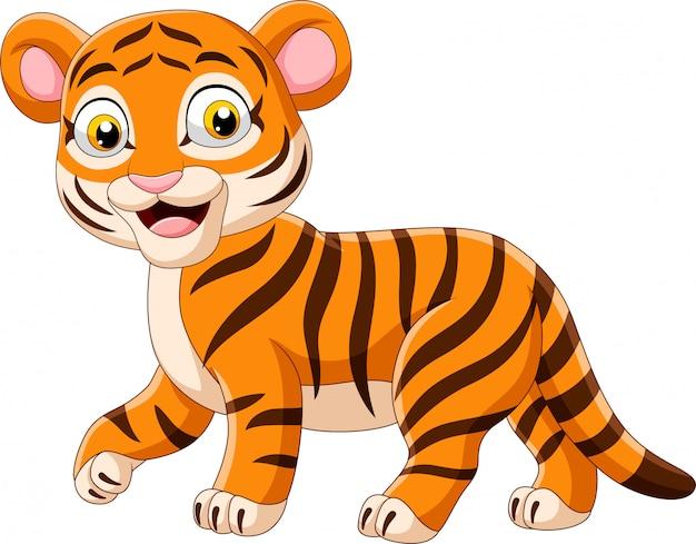 Cartoon funny baby tiger
