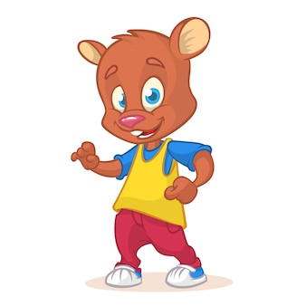 Cartoon funny bear