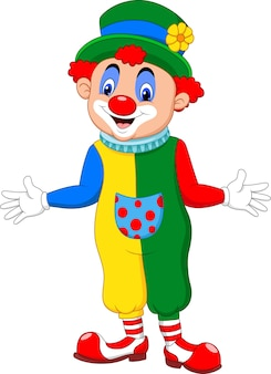 Cartoon funny clown posing