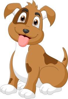 Мультяшная смешная собака