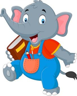 Мультяшный смешной слон
