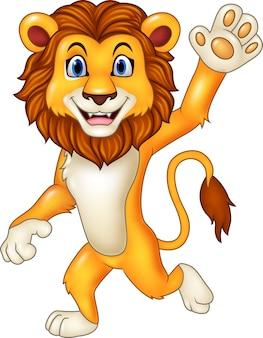 손을 흔들며 만화 재미있는 사자